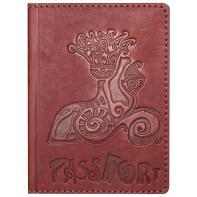 """Обложка на паспорт """"Сфинкс"""" натуральная кожа"""