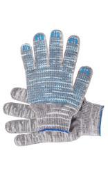 """Перчатки """"Рабочие"""" с ПВХ графит 4-х нитка (точка)"""