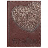 "Обложка на паспорт ""Сердце"" натуральная кожа"