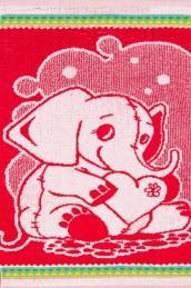 """Полотенце  """"Слоненок"""" розовое"""
