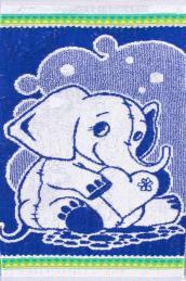 """Полотенце  """"Слоненок"""" синее"""