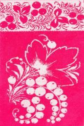 """Полотенце  """"Узорная смородина"""" розовое"""