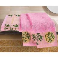 """Набор полотенец 2шт """"Бамбук"""" розовый"""