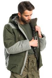 Куртка Канада Олива + Серый