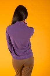 Блузка с бантом Ф 076 (фиолетовая)