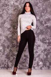 Облегающие брюки на флисе с карманами Ш 009 (черные)