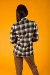 Кашемировый пиджак Ф 077 (черно-белая клетка)
