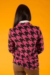 Кашемировый пиджак Ф 077 (лапки на фуксии)