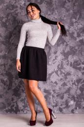 Стеганая юбка-колокол Ю 005  (черная)