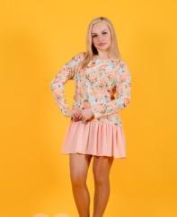 Платье-туника Т 148 (беж+персик)