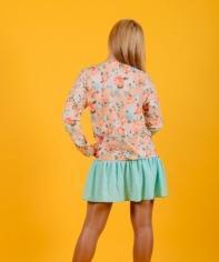 Платье-туника Т 148 (беж+ментол)