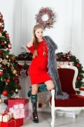 Платье П 497 (красный)