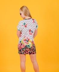 Платье-туника Т 146 (горох+цветы)