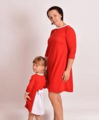 Детское платье Бантик ДП 520 Family look (красный, бордо)