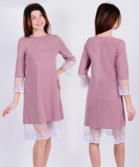 Платье П 668 (сухая роза)