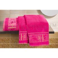 """Набор полотенец """"Домик"""" розовый  2шт."""