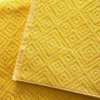 """Полотенце """"Жаккард"""" желтое"""