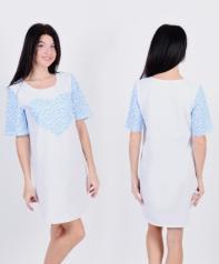 Сорочка Д 11 (белый+цветочки)