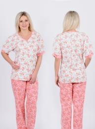 Пижама Д 55 (цветочный принт)