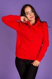 Худи с карманами и капюшоном Ф 084 (красное)