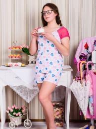 Пижама К 32 (розовые сердечки)